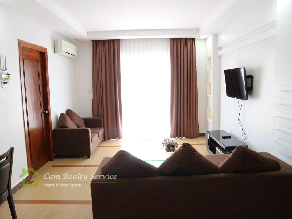 Russian market area| Very nice 2 bedrooms serviced apartment available for rent| 600$/month| Phnom Penh