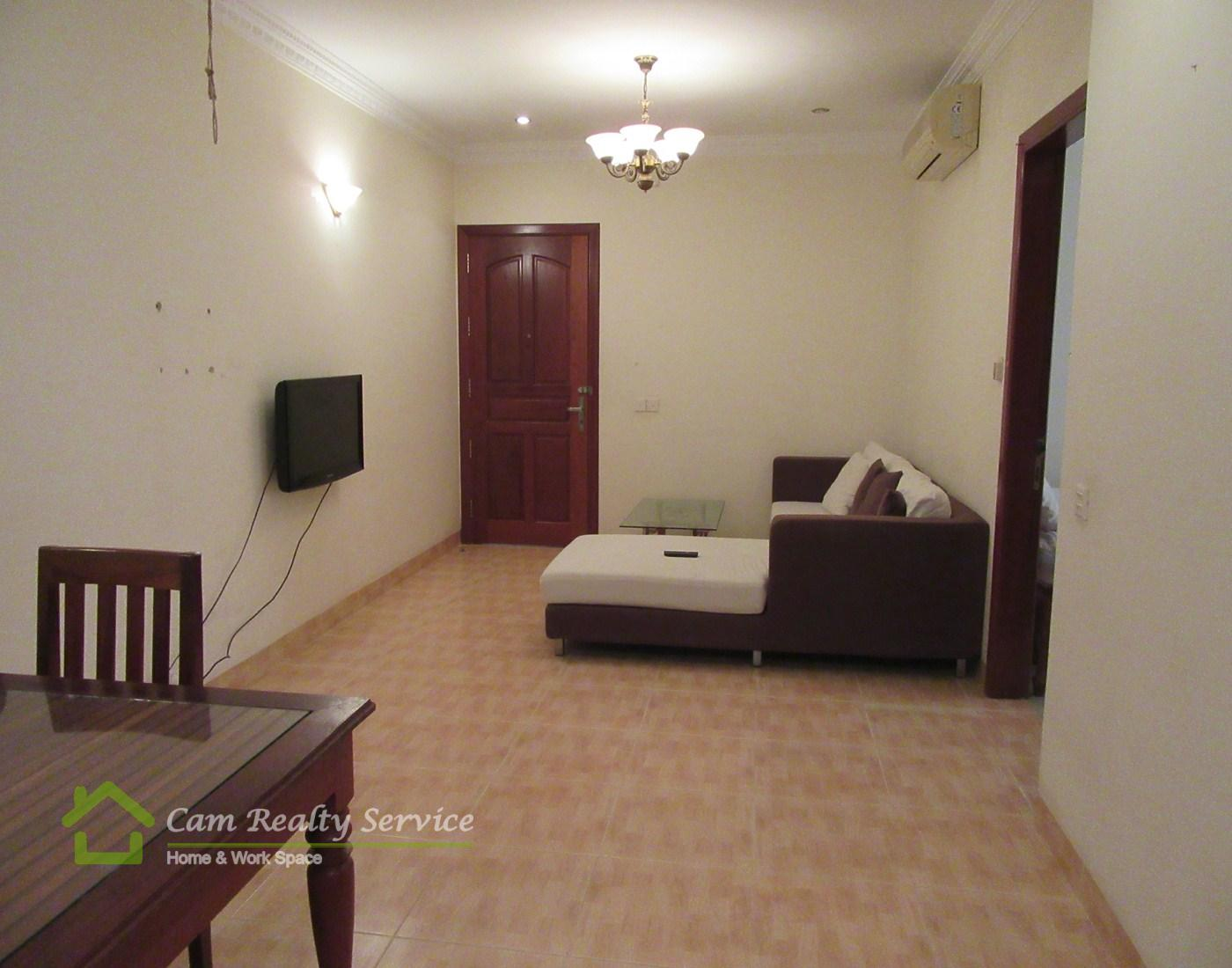 BKK1 area  Khmer style 2 bedrooms apartment available for rent 