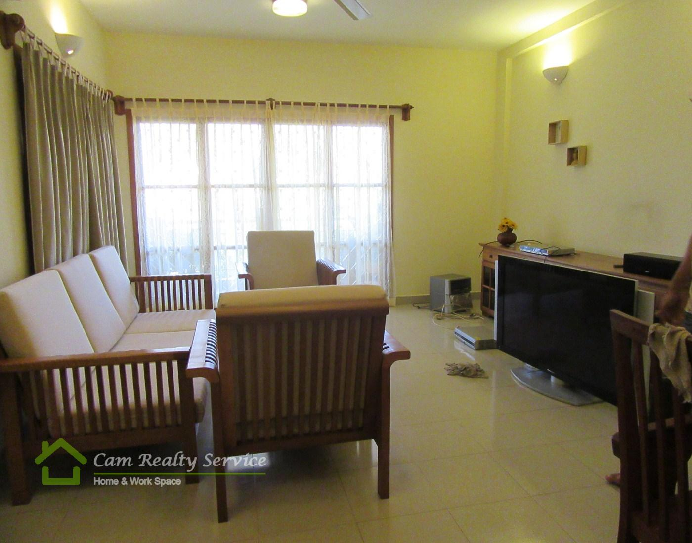 BKK1 area  Khmer style 1 bedroom apartment available for rent  600$/month