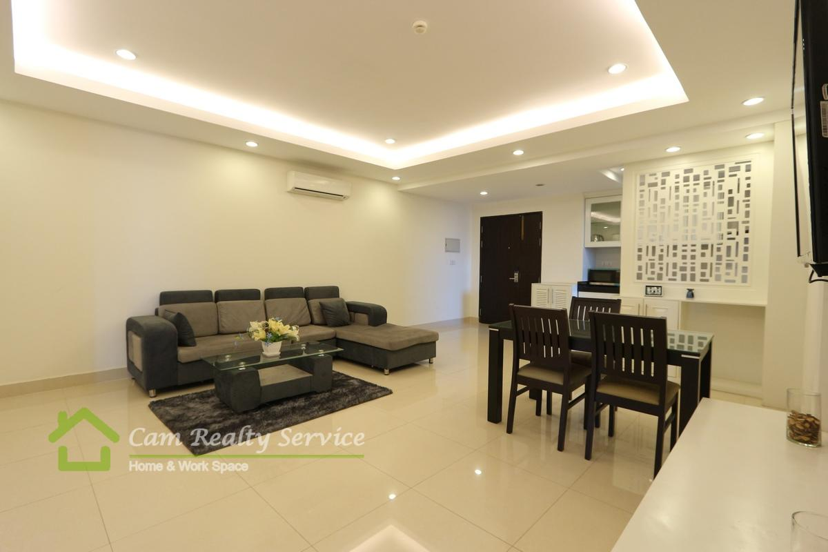 Russian Market area| Modern style 2 bedrooms serviced apartment available for rent| 1100$/month up| Phnom Penh