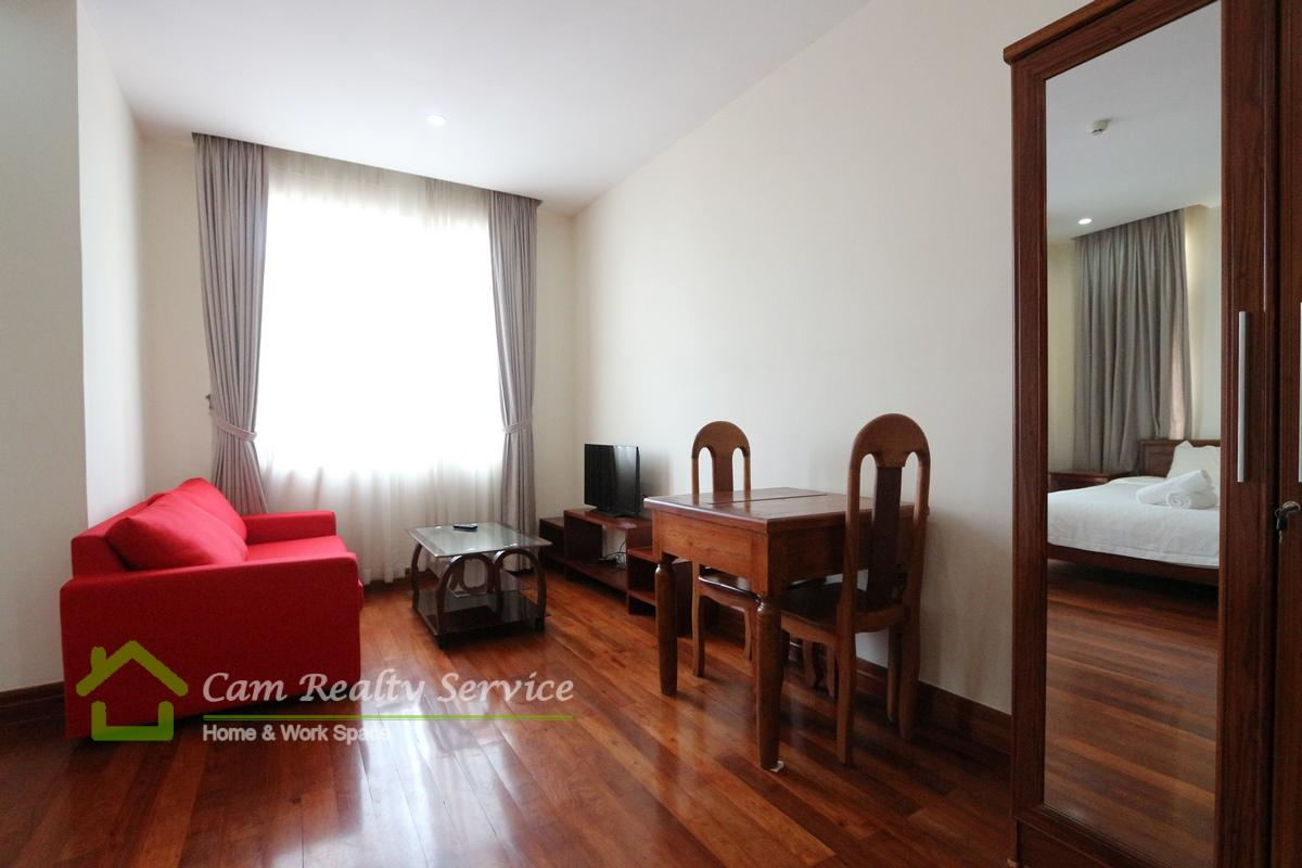 Russian Market Area| Modern style studio serviced apartment available for rent| 450$/month up| Gym| Phnom Penh