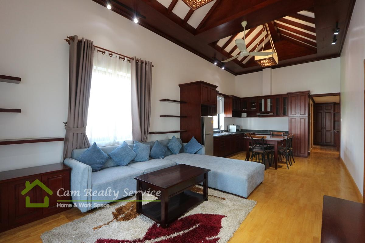 BKK1 area| Western style 3 bedrooms serviced apartment available for rent 1000$/month
