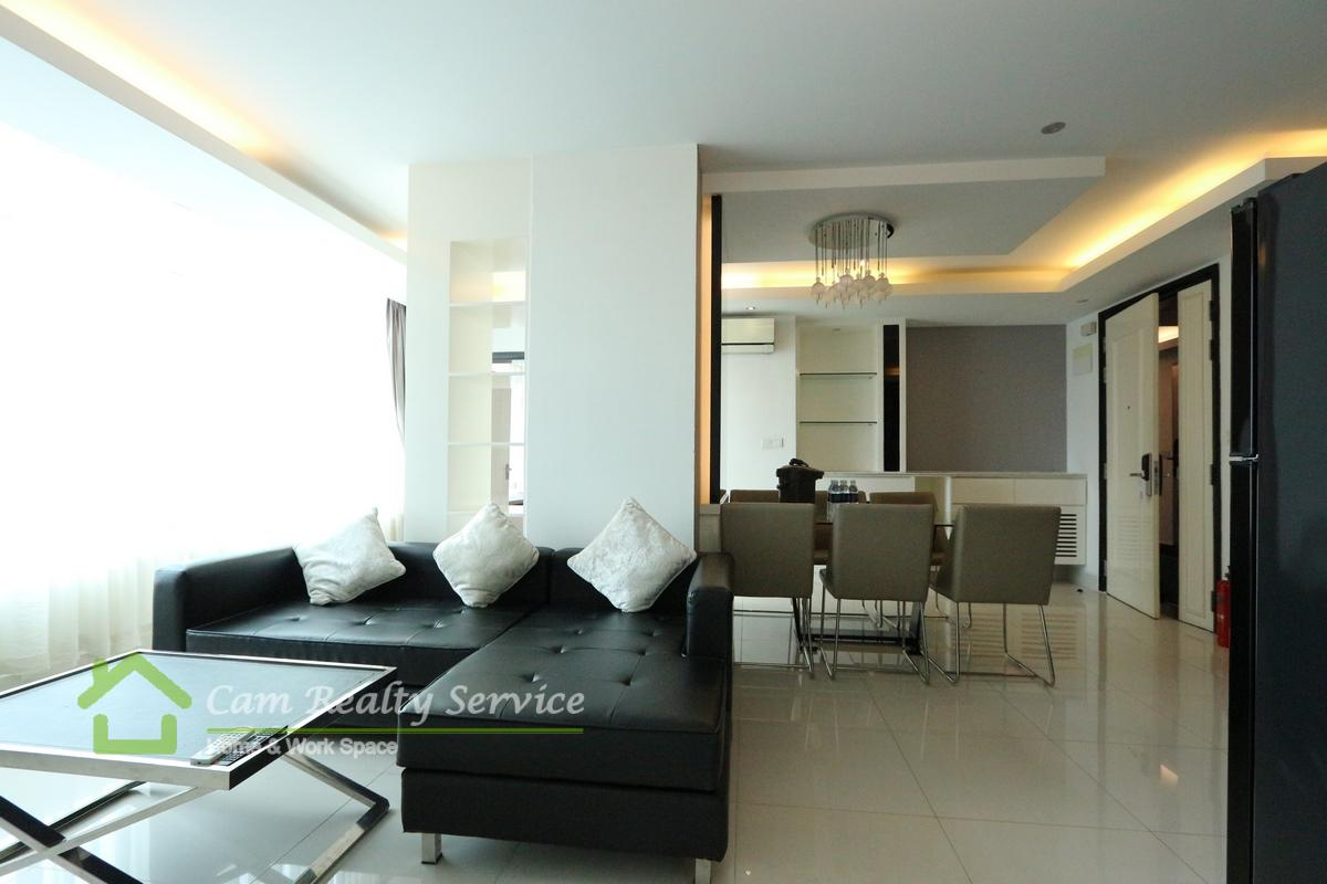 BKK1 area  Modern style 3 bedrooms serviced apartment for rent  1900$/month up  Rooftop pool & Gym