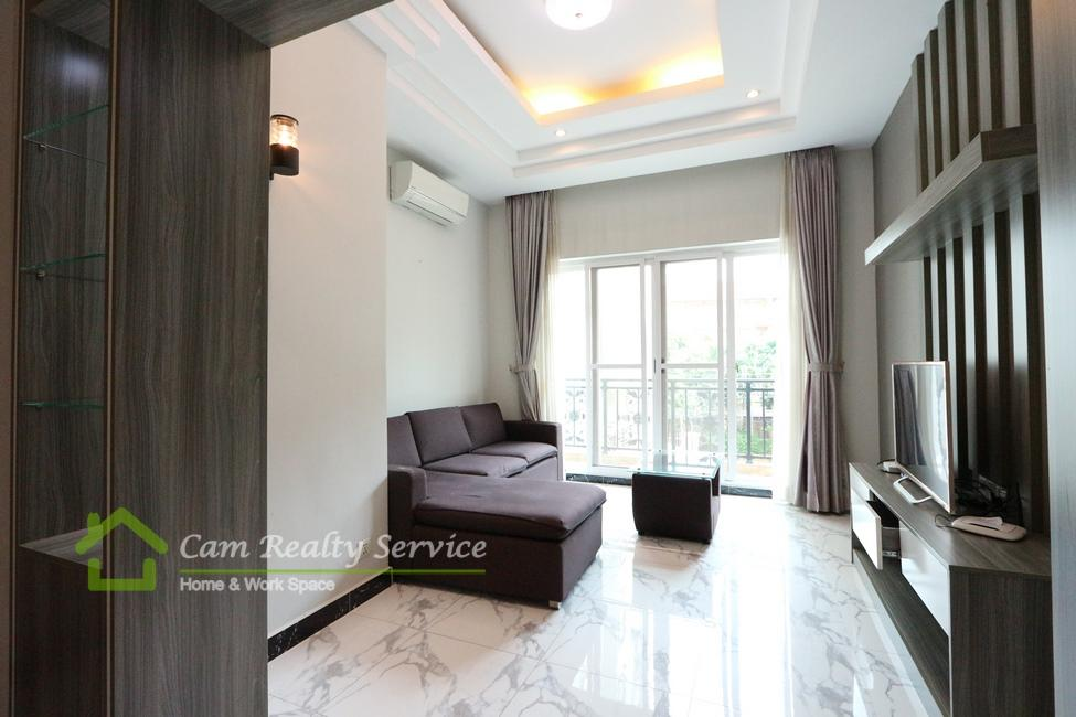 Russian Market| Spacious 1 bedroom serviced apartment available for rent| 550$/month up| Pool, gym sauna & steam