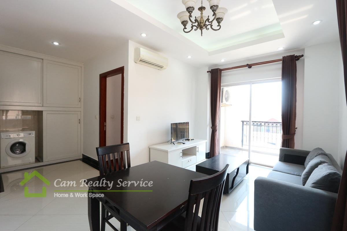 Russian market area| Very nice 1 bedroom serviced apartment available for rent| 600$/month up| Pool & Gym| Phnom Penh
