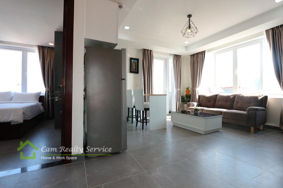 Middle of Russian market area| Modern style 2 bedroom serviced apartment for rent| 900$/month| Phnom Penh