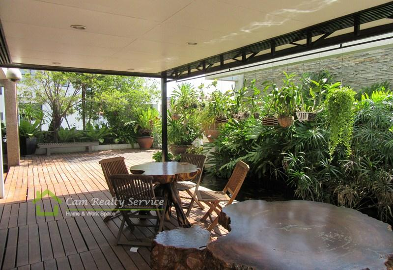 penthouse serviced apartment for rent in Russian market (Toul Tompong area), Phnom Penh