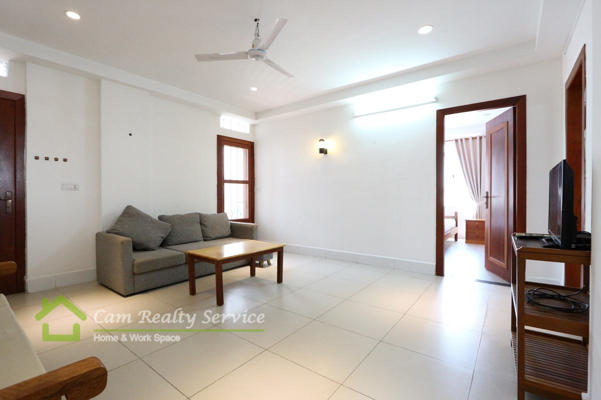 Russian Market| Beautiful 2 bedrooms serviced apartment for rent| 600$/month| Phnom Penh