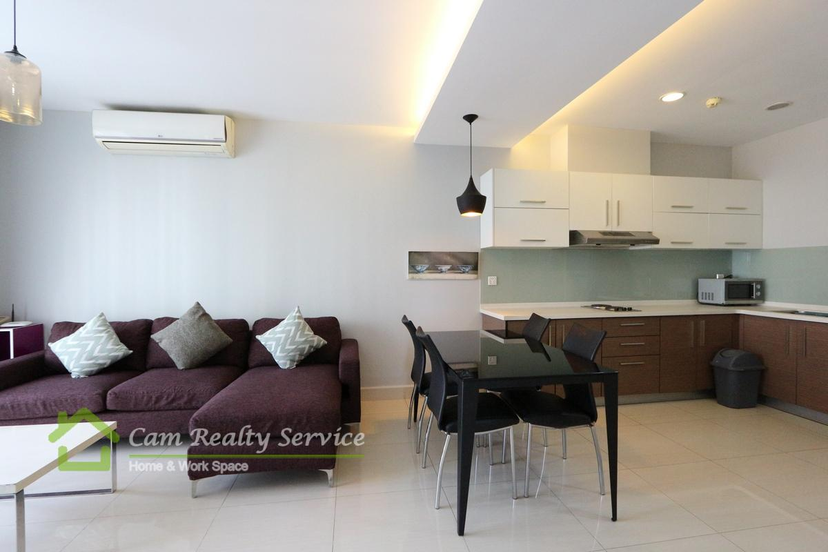 Near BKK1 area| Modern style 2 bedrooms serviced apartment available for rent| 630$/month up| Gym| Phnom Penh