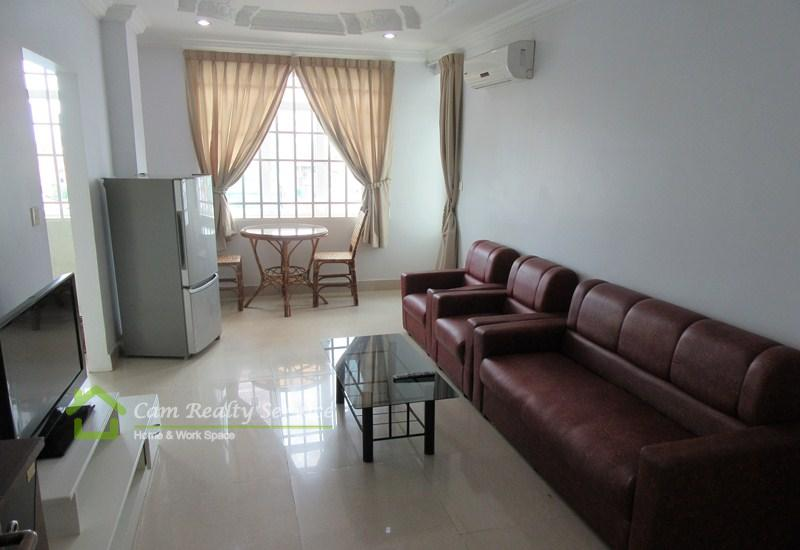 Russian Market area| Very nice 1 bedroom serviced apartment available for rent| 350$/month| Phnom Penh