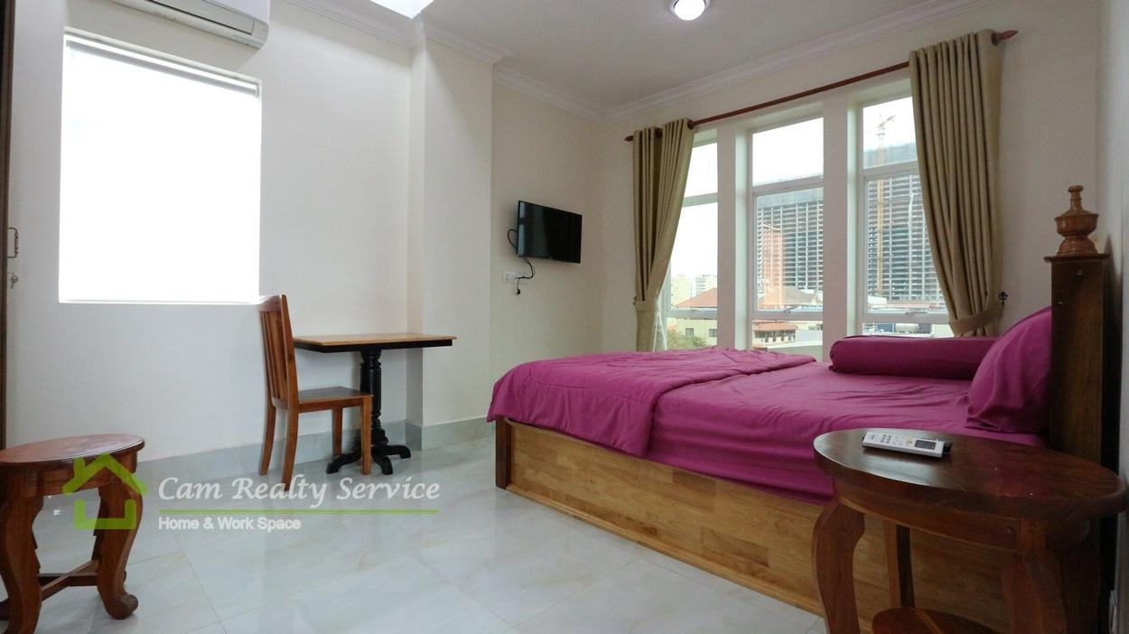 Beong Trabek area| Modern style fully furnished 1 bedroom serviced apartment for rent| 350$/month