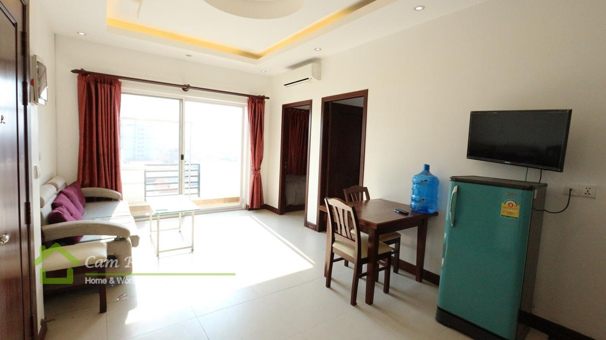 Russian Market area  Beautiful 2 bedrooms service apartment available for rent  500$/month up  Phnom Penh