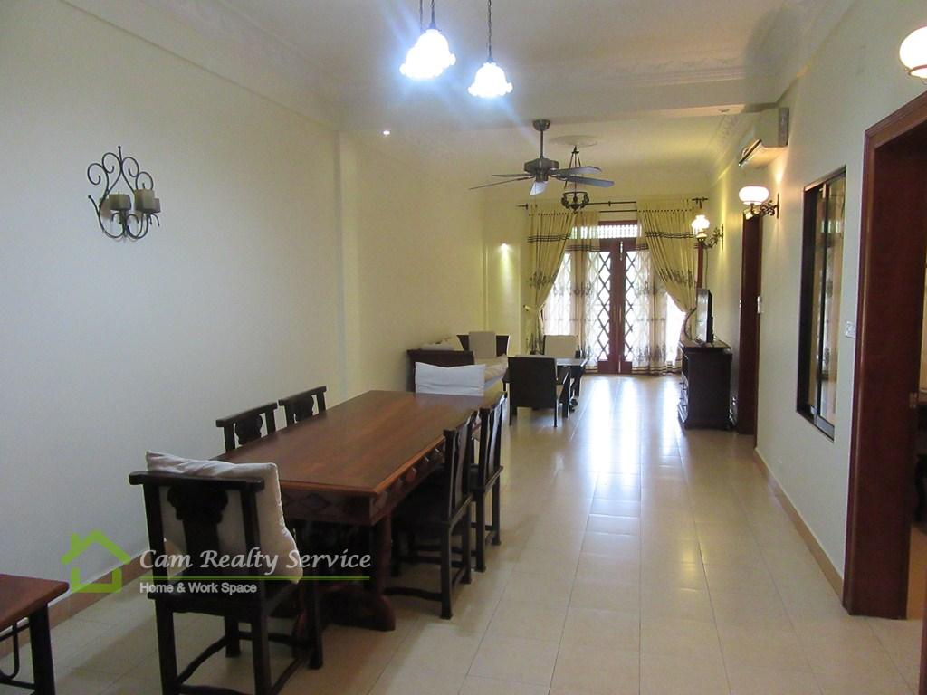 BKK1 area|Khmer traditional style 2 bedrooms serviced apartment for rent| 1000$/month