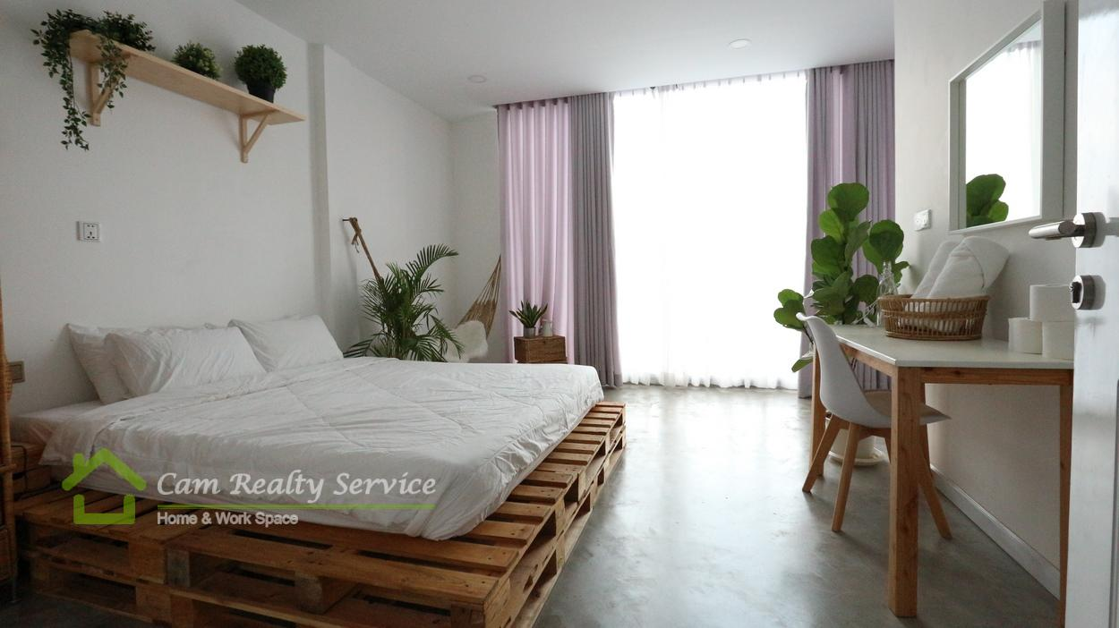 Russian market area| Modern style 1 bedroom serviced apartment available for rent| 400$/month