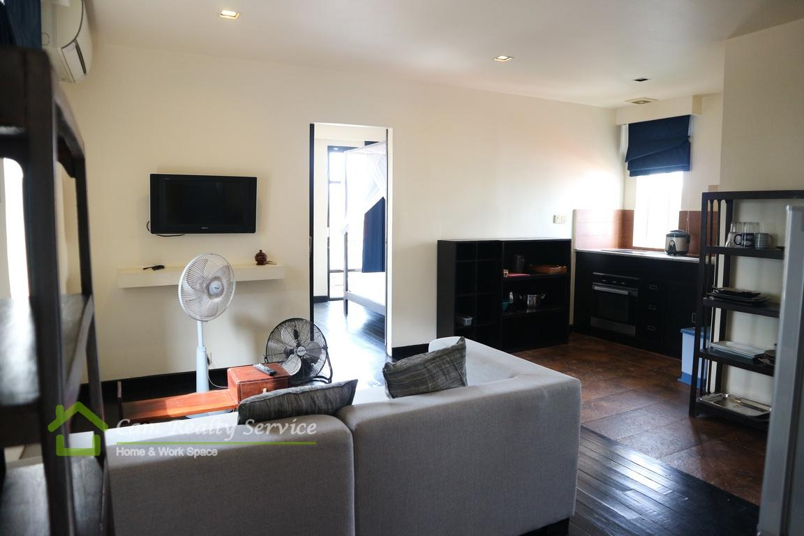 BKK1 area| Very nice 1 bedroom serviced apartment available for rent| 450$/month up