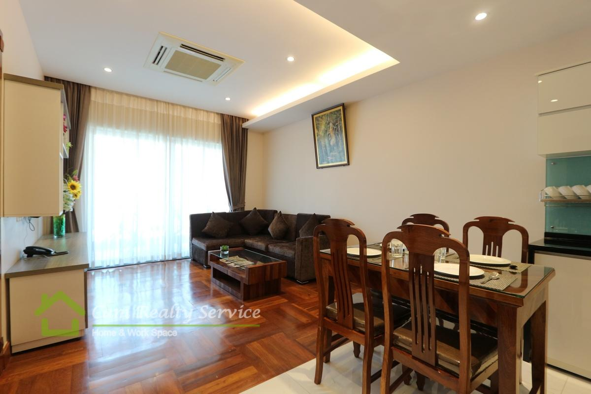 BKK1 area| Western style 1 bedroom serviced apartment available for rent| 1200$/month up| Rooftop pool & Gym
