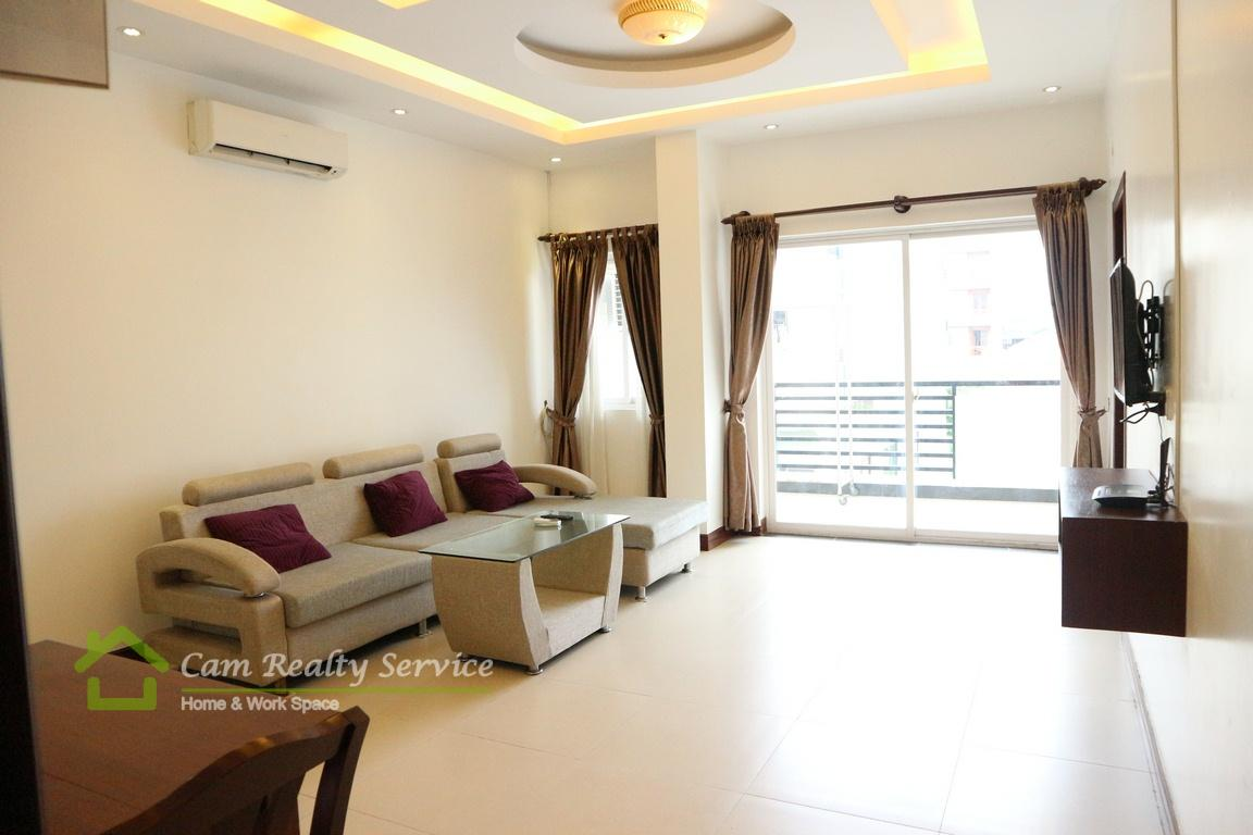 Great location in Russian Market area  Beautiful 2 bedrooms serviced apartment available for rent 500$/month up  Phnom Penh