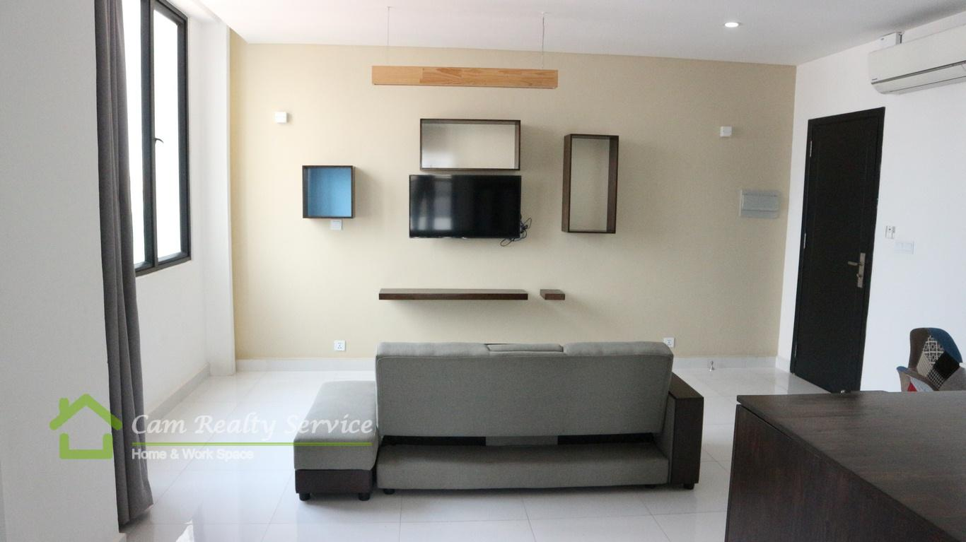 Russian Market area| Western style 1 bedroom apartment available for rent| 550$/month| Phnom Penh