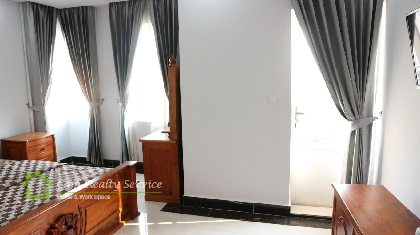 Russian Market area  Very nice 1 bedroom serviced apartment available for rent  450$/month  Phnom Penh