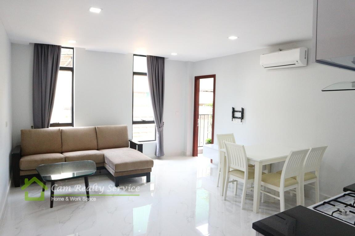 BKK1 area| Western style 1 bedroom serviced apartment for rent in Phnom Penh