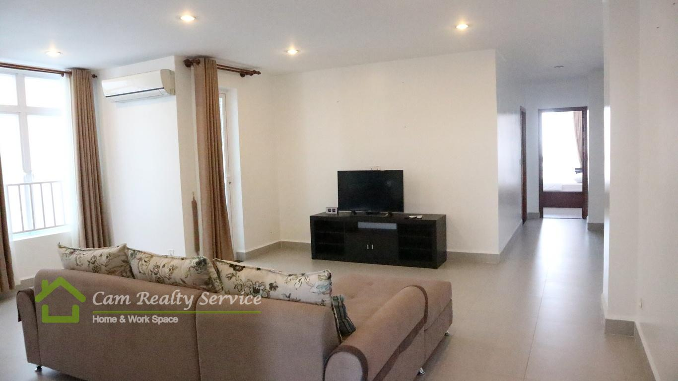 Russian Market area| Spacious modern style 2 bedrooms serviced apartment available for rent| 800$/month| Pool & Gym| Phnom Penh