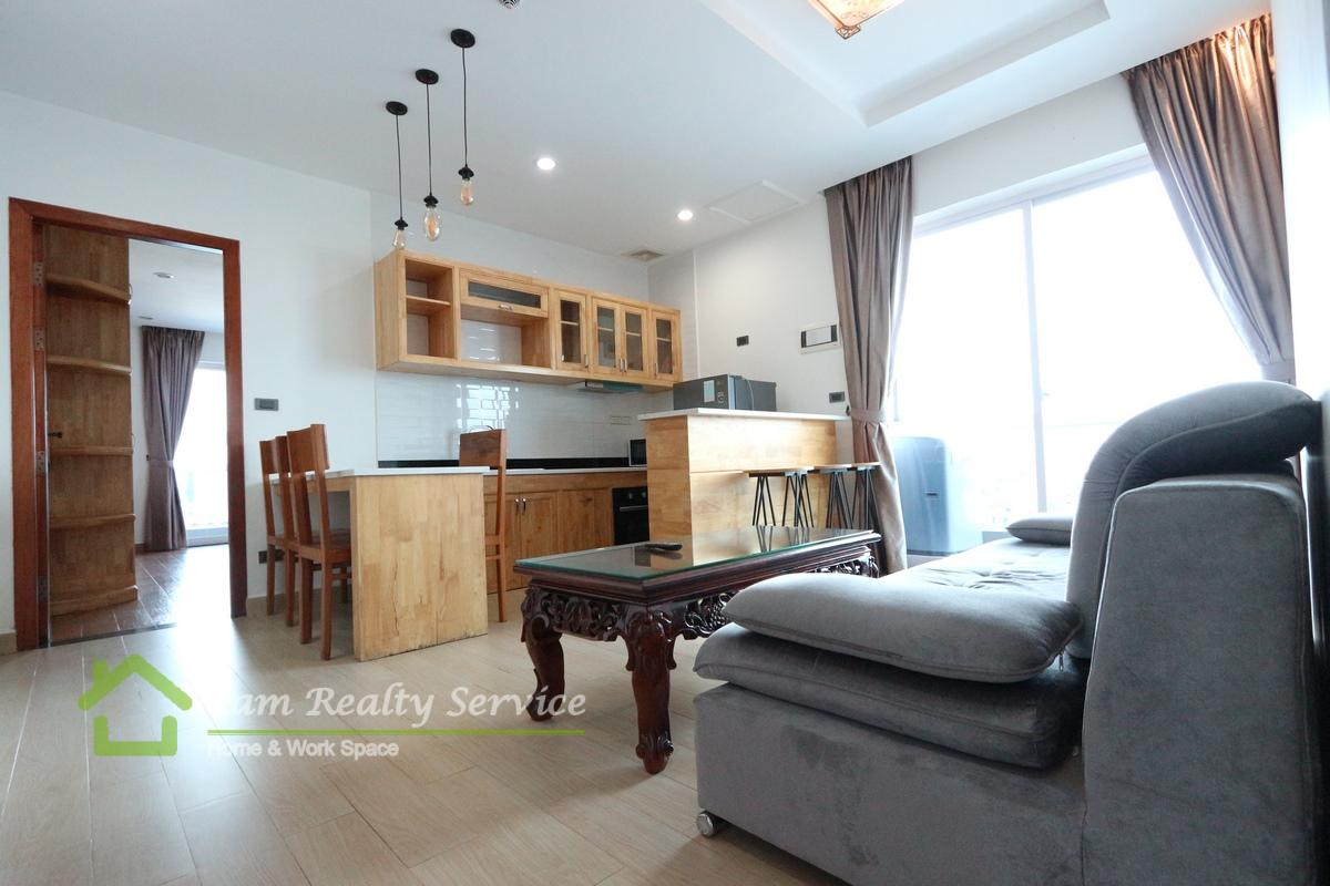 Russian market area| Very modern and nice 3 bedrooms serviced apartment available for rent| 1050$/month| Pool, gym, sauna & steam