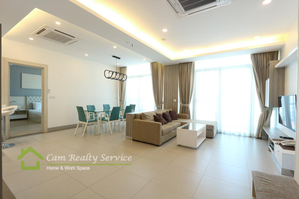 BKK1 area| Modern style 2 bedrooms serviced apartment available for rent| 2300$/month Up| Pool & Gym