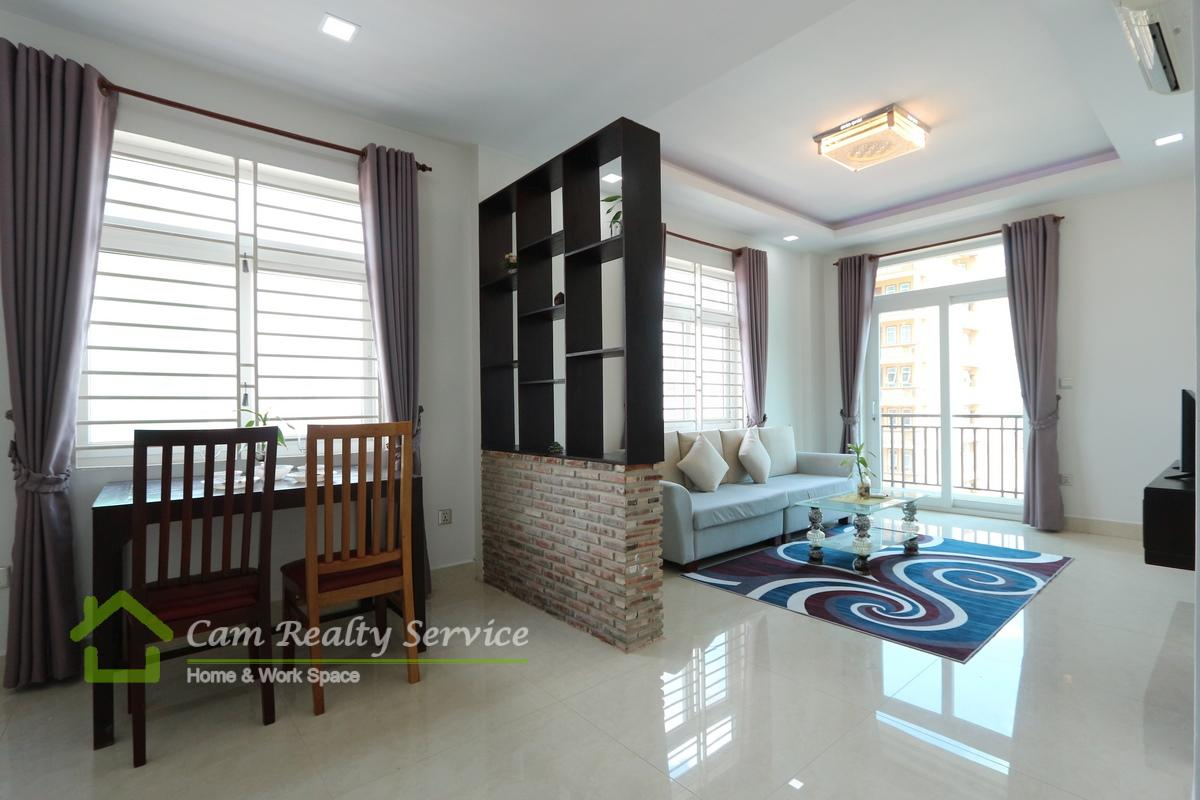Russian Market| Brand new and very nice 1 serviced bedroom apartment available for rent| 420$/month up| Gym| Phnom Penh