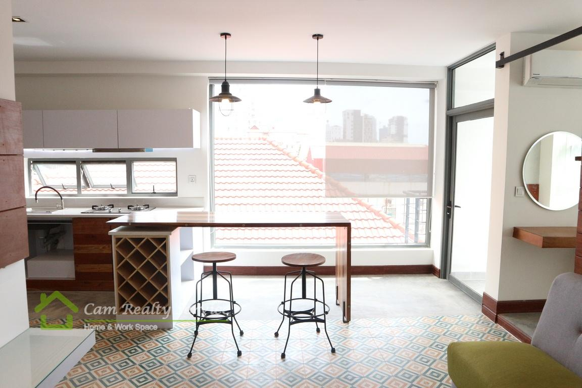 BKK1 area| Very nice designed 1 bedroom serviced apartment available for rent| 600$/month up