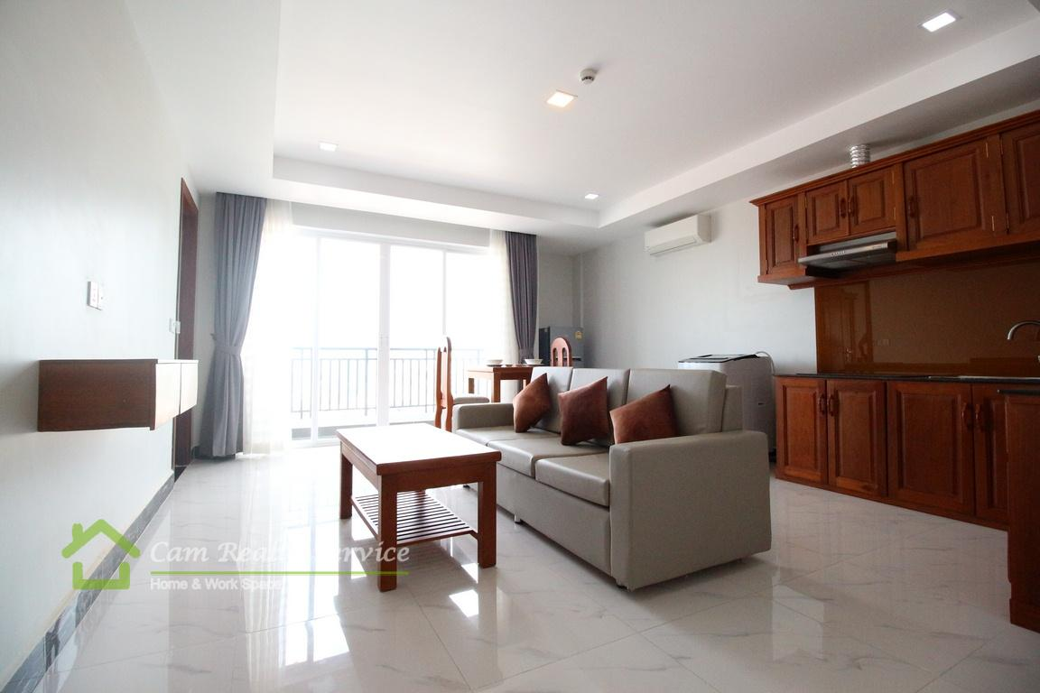 Russian Market area| Modern style 1 bedroom serviced apartment available for rent| 550$/month up| Pool & Gym| Phnom Penh