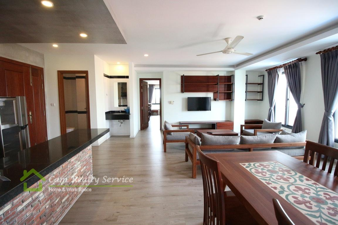 Southern of Russian market area| Modern and nice 2 bedrooms serviced apartment available for rent| 800$/month| Gym & Sauna| Phnom Penh