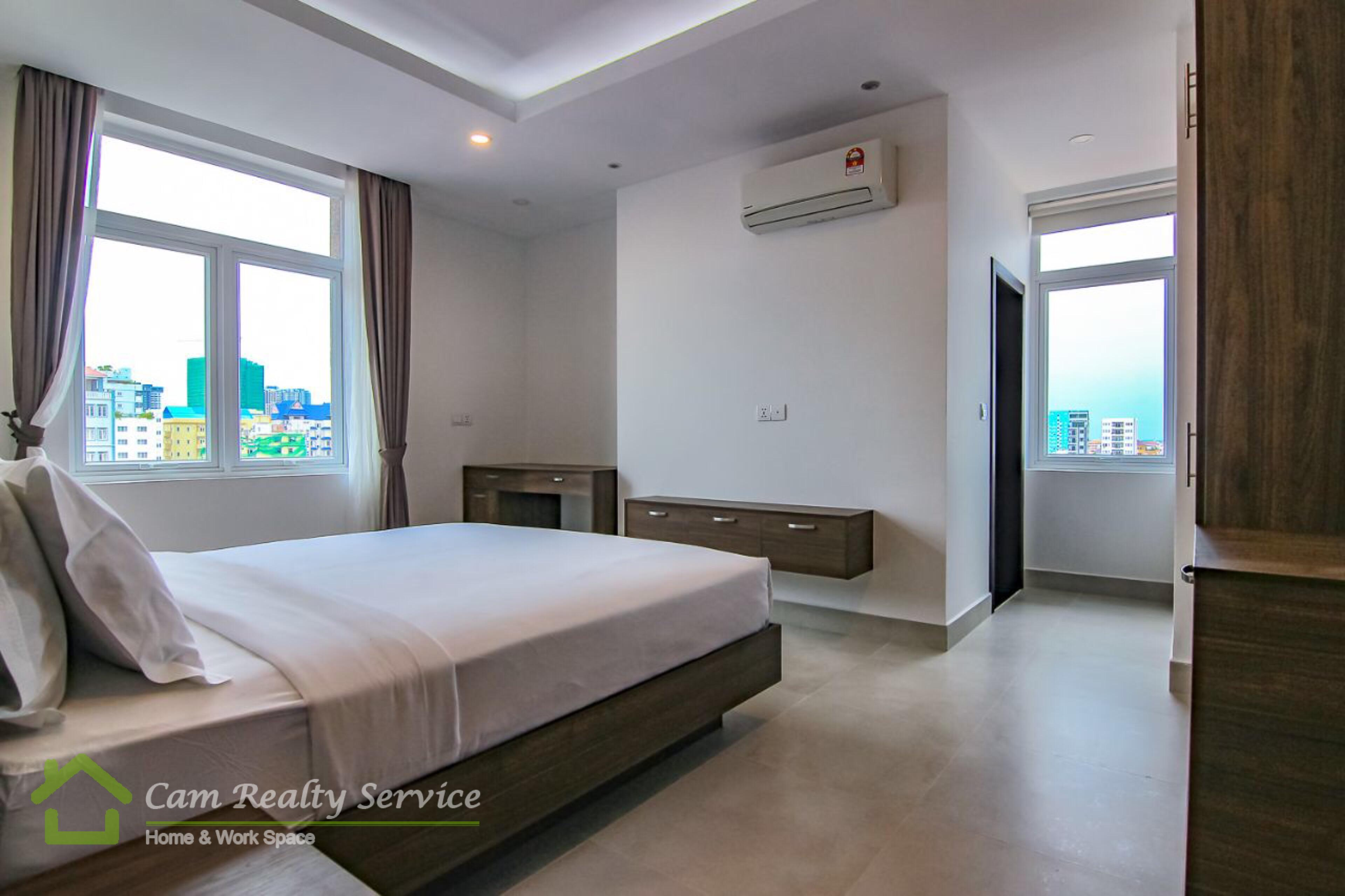 Russian Market area| Fully furnished studio serviced apartment available for rent| 550$/month| Pool & Gym| Phnom Penh
