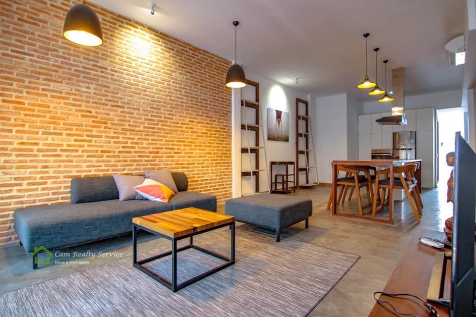 Daun Penh area| Very beautiful renovated duplex 1 bedroom apartment for rent 750$/month