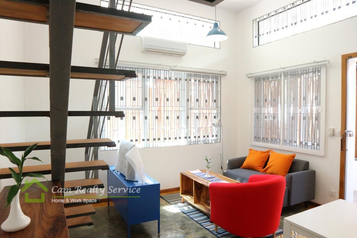 Toul Sleng area| Loft duplex 1 bedroom apartment available for rent 500$/month