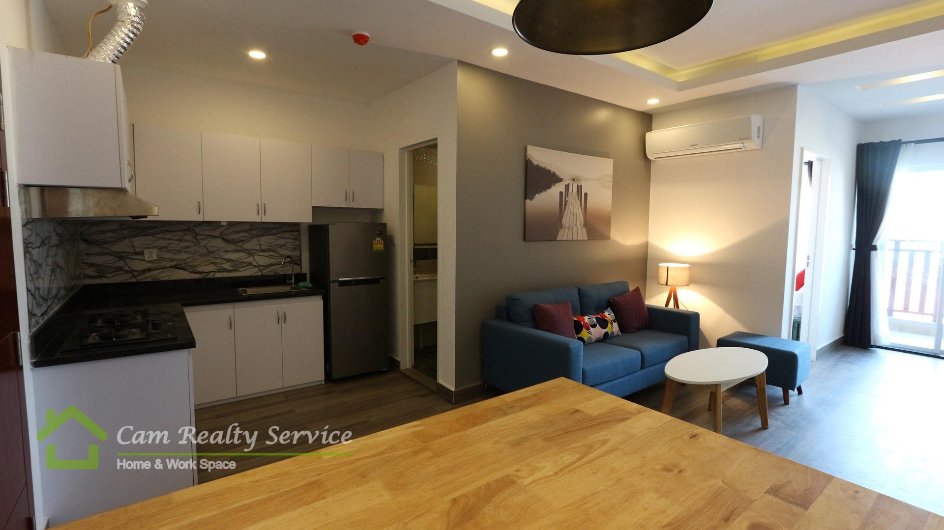 BKK3 area| Modern style 1 bedroom apartment for rent| 600$/month| Pool & Gym
