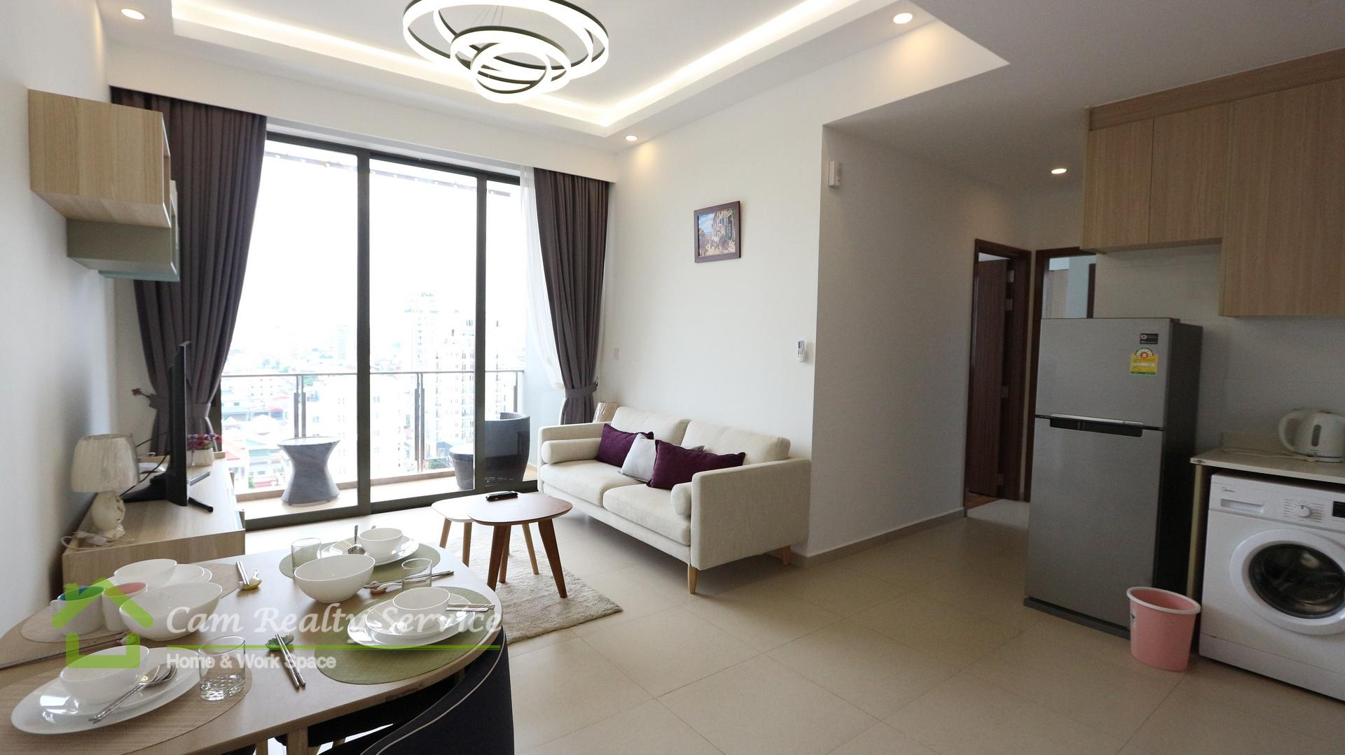 BKK3 area(Close to BKK1)  Western style fully furnished 2 bedrooms serviced apartment for rent  950$/month up  Pool & gym
