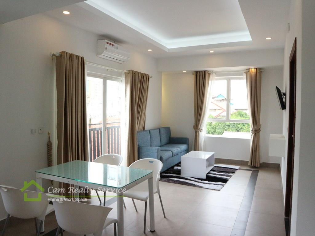 BKK3 area| Western style 1 bedroom serviced apartment for rent| 450$/month up| Gym