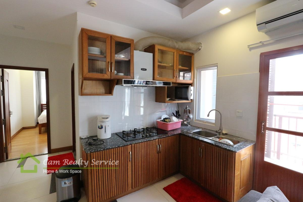 kitchen_2 bedrooms serviced apartment for  rent in BKK1