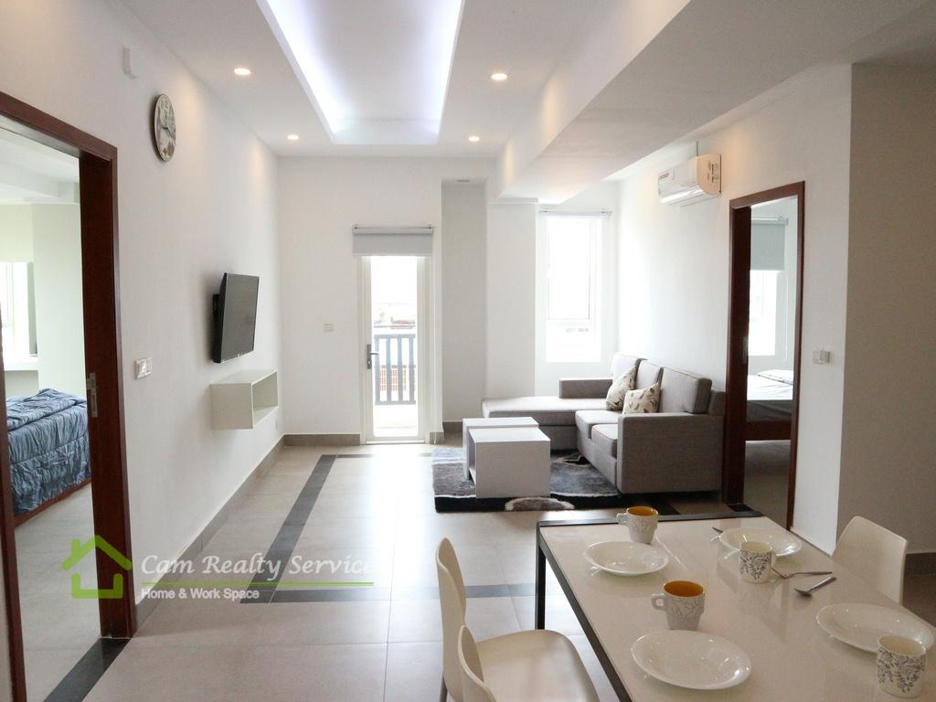 BKK3 area  Modern style 2 bedrooms serviced apartment for rent  650$/month up  Gym