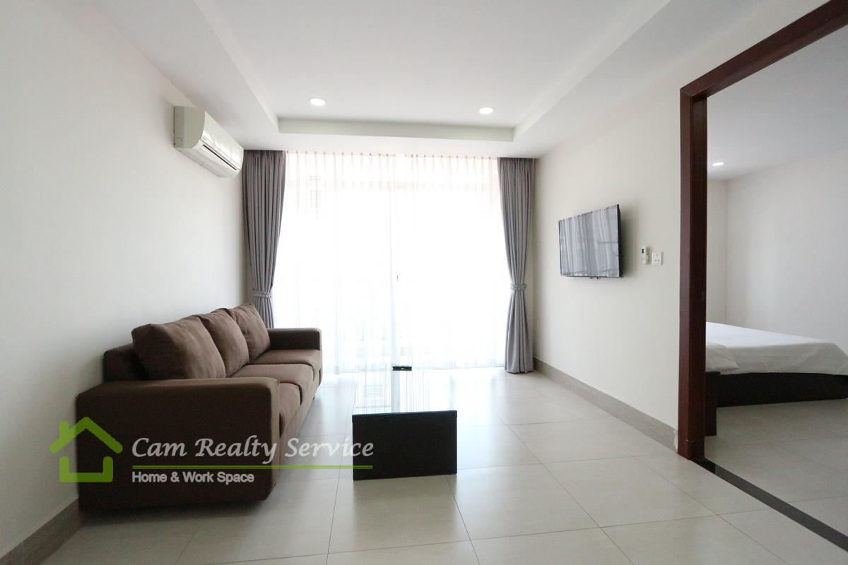 Toul Sleng area (BKK2)  Modern style 1 bedroom apartment available for rent  450$/month up  Gym