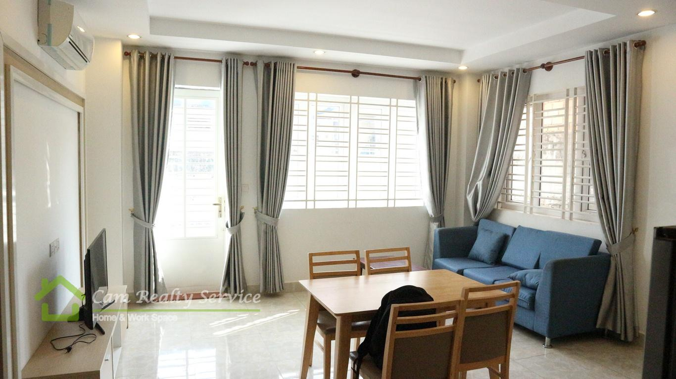 West part of Toul Sleng Museum  Very nice 2 bedrooms serviced apartment available for rent  550$/month