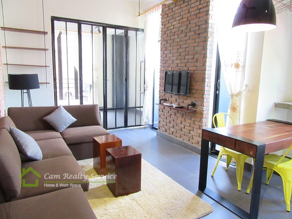Tonle Bassac area| Modern style studio serviced apartment available for rent| 450$/month up