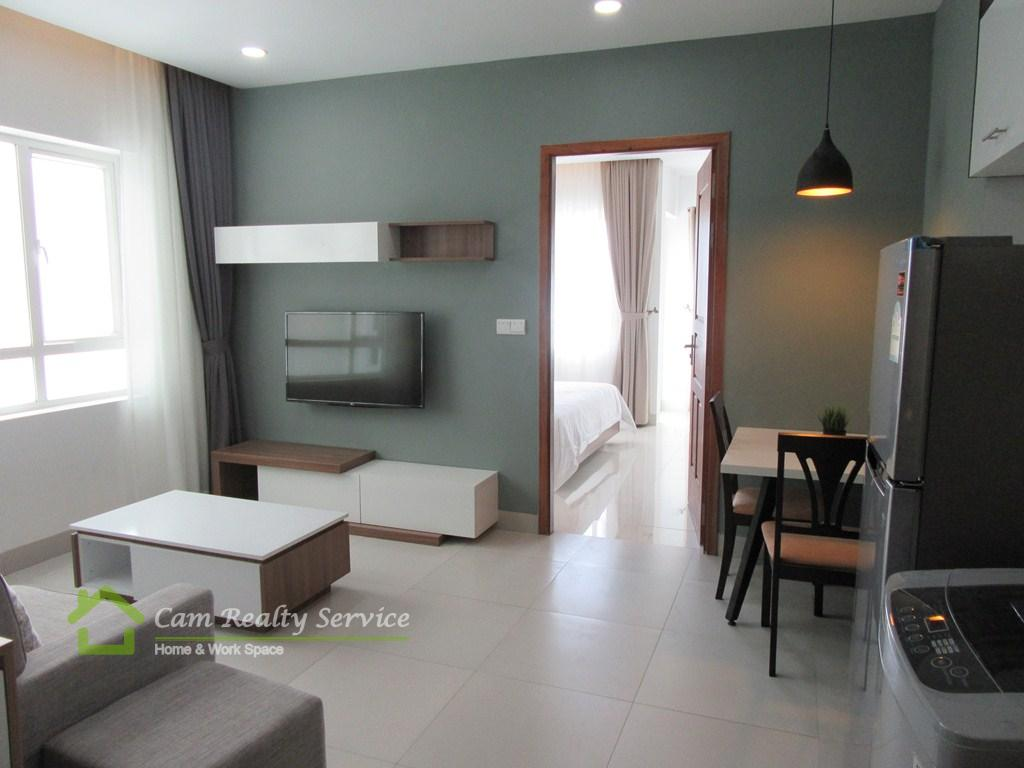 Southern Tonle Bassac area| Very modern and nice 1 bedroom serviced apartment available for rent| 550$/month up| Pool & Gym