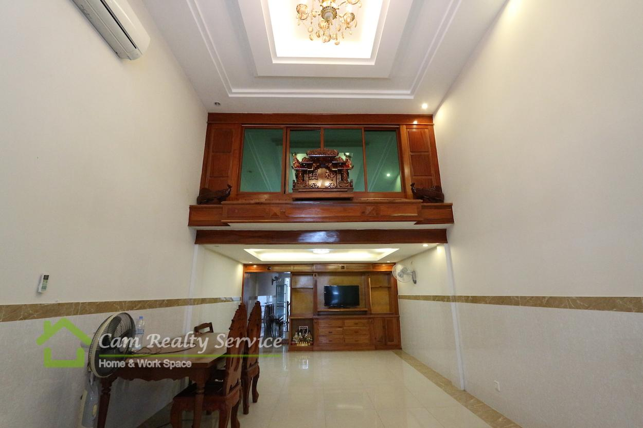 Aeonmall Sen Sok City Area| Fully furnished bright 5 bedrooms flat house in gated community for rent 1000$/month