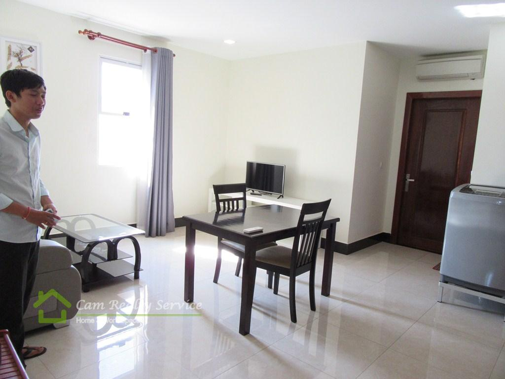 Toul Sleng area| Modern style 1 bedroom serviced apartment available for rent| 550$/month