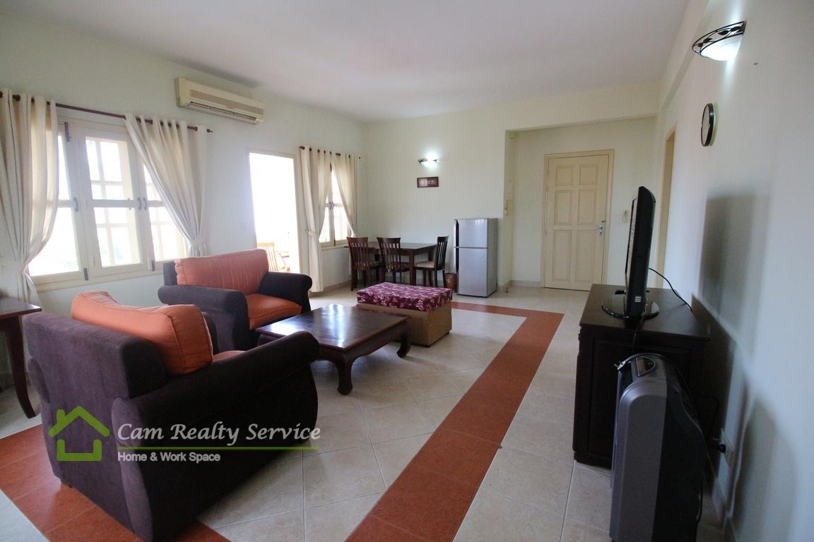 Toul Kok Area  Spacious french colonial style 2 bedroom fully serviced apartment available for rent 900$/month