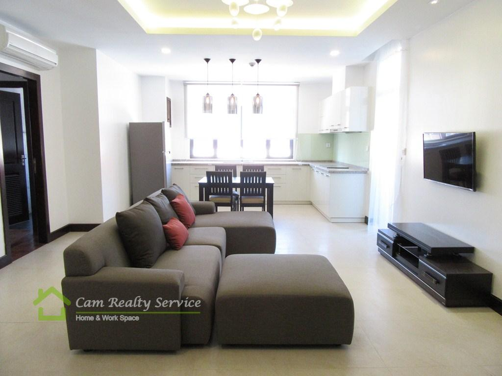 Wat Phnom Area  Modern Western Style 2 Bedrooms Apartment Available For Rent 1200$/Month Up (Swimming Pool, Gym, Sauna)