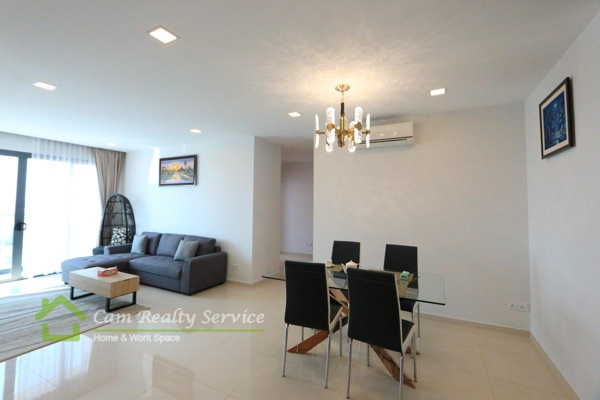 Toul Kork area| Western style furnished 3 bedrooms condominium available for rent 1100$/month up| Pool & Gym