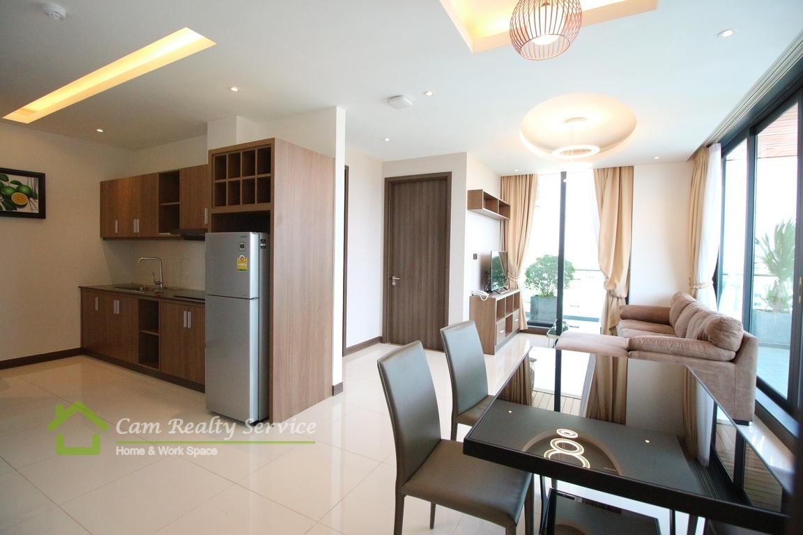 Toul Kork Area  Western style 2 bedrooms serviced apartment available for rent  1000$ – 1300$/month