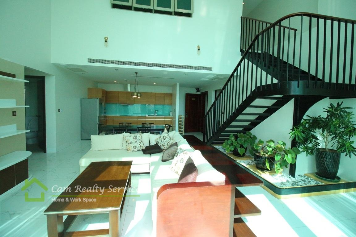 Independence Monument Area| Luxurious 3 Bedrooms Penthouse Serviced Apartment For Rent| Swimming Pool And Gym 5200$/month (negotiable)